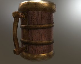 Stylized Old beer mug 3D asset