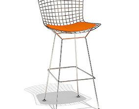 Knoll Bertoia barstool 3D