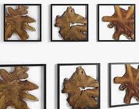 3D model framed teak