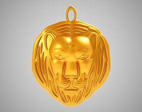 crest Lion Pendant 3D print model