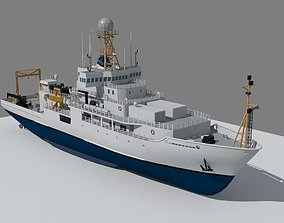 commercial 3D Marine climate research vessel