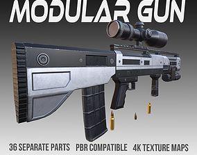 Modular Gun PBR Vol 3 3D model