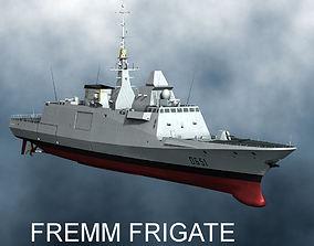 3D model FREMM frigate 2014