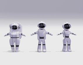 3D asset Astronauts Low-Poly
