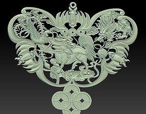 3D dragon and phoenix