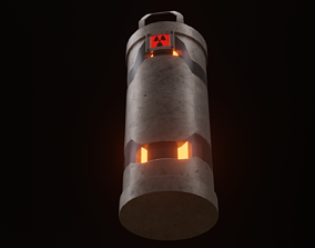 Nuclear Reactor Bomb Chamber 3D model
