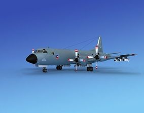 3D Lockheed P-3 Orion Chile