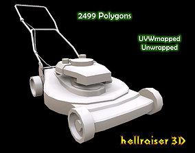 Lawn Mower 3D model low-poly