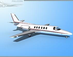 rigged Falcon3D Citation V C560 F12