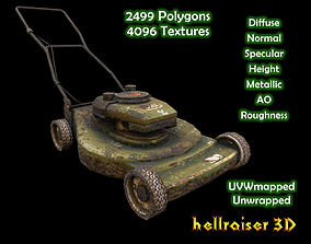 Lawn Mower - Textured 3D model