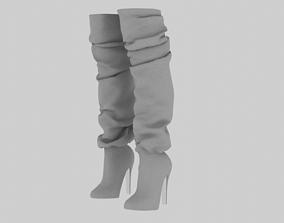 3D High Heel Boots