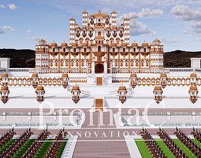 indian jharokha palace 3D model animated