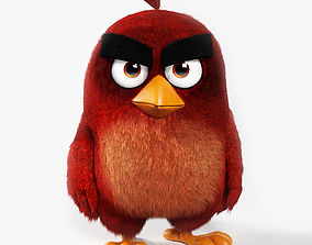 Angry Bird Red 3D asset