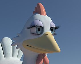 3D Chicken with Morphs and Rig
