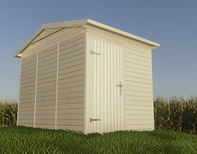 3D asset game-ready Low-Poly Garden Shed