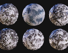 3D model Snow Ice Seamless PBR Texture Pack