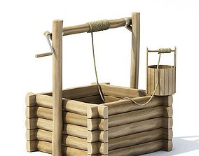Wooden Water Well 3D model