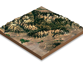 3D asset Mountains terrain