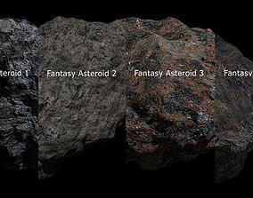 Fantasy Asteroid Collection 3D model
