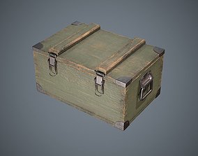 3D model game-ready Military Box Container