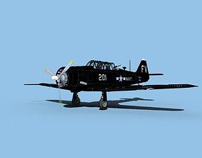 3D model North American SNJ armed V03 US Navy
