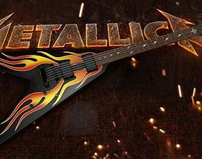 3D model Metallica James Hetfield ESP JH-1 V Guitar