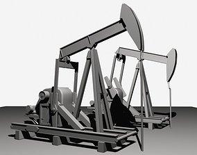 Oil Field Pump Jack 3D