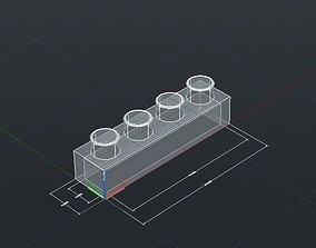 3D printable model Print Block 1 by 4
