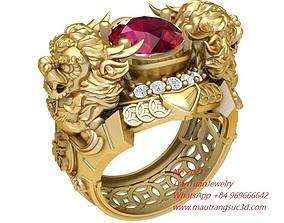 3D print model 2071 Unicorn Ring New Design November 2019