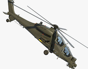 helicopter 3D model Agusta A129 Mangusta