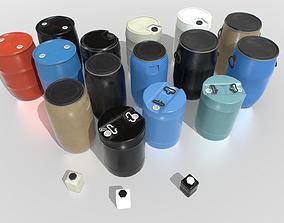 Plastic Barrels Pack 3D model