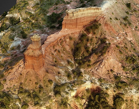 Lighthouse Rock in Palo Duro Canyon 3D