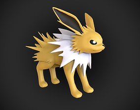 Jolteon HD Base mesh pokemon 3D model