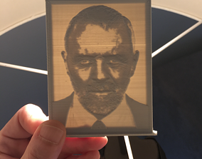 3D print model Anthony Hopkins portrait picture in frame