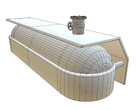 animated Fuel Tank Low Poly Model