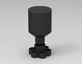 3D printable model Water feeder for new born Quail birds