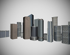 Skyline Miami DAY and NIGHT textures 3D asset