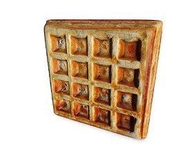 Waffle 3D model brunch