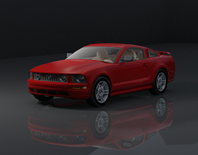3D model FORD MUSTANG 2006 CAR MODAL