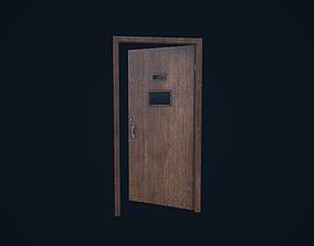 Wooden Door 3D asset VR / AR ready