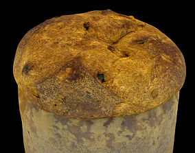 loaf Panettone - Christmas cake 3D model