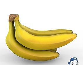 Banana Bunch 3D model PBR