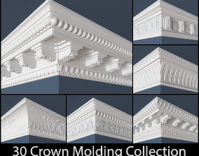 30 Crown Molding Collection 3D