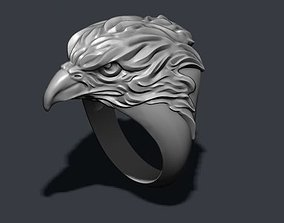 3D printable model men Eagle ring
