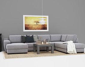 3D model Sofa Setup 07