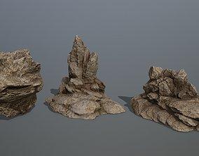 mountain 3D asset game-ready Rock Set