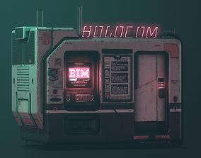 Cyberpunk Holocom Booth 3D asset