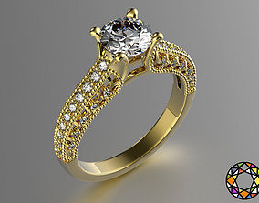 Engagement Ring 3D print model