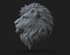 Lion head 3D printable model sterling