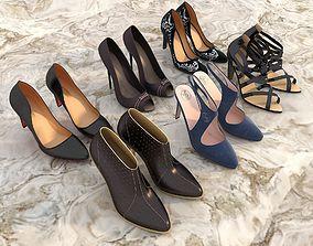 3D model fashion Women High heel Shoes